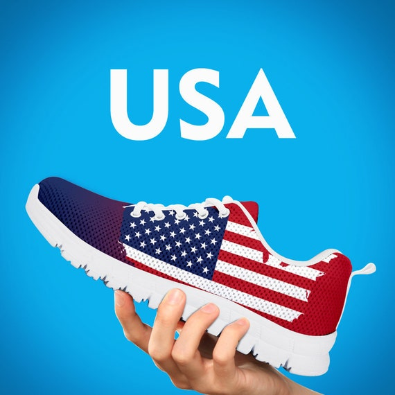 Flag USA Gift Custom Mens Sizes Collector Trainers Sneakers Shoes Running Shoes Kids Gift Custom Patriotism USA Womens vPqw4