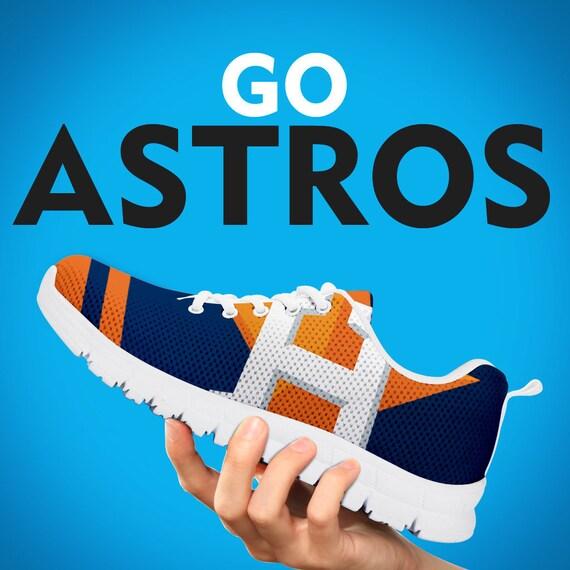 personnalis cadeau chaussures Astros Houston blanc formateurs baskets noir YwTB40q