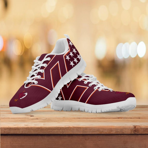 Shoes Womens Running Custom Sneakers Sizes Gift Trainers Hokies Gift Collector Tech Virginia Kids Mens Football Gift twvYqUxW