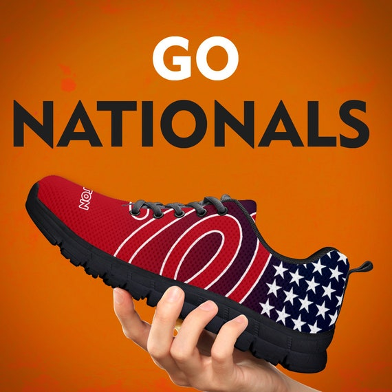 Sneakers Gift Running Shoes Collector Gift Washington Nationals Baseball Womens Custom Kids Trainers Sizes Gift Mens w64t5qEn51