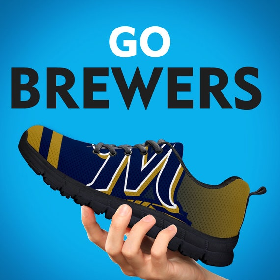 Gift Mens Brewers Gift Kids Sizes Shoes Trainers Gift Womens Baseball Collector Sneakers Custom Milwaukee Running qAwp7xYfY