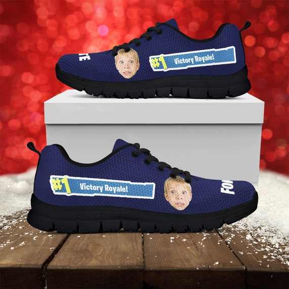 Photo Picture Gift Running Kids Black Victory Face Sneakers Shoes Printed Your Fortnite White Custom Custom Custom Royale Athletic xnZqwRw8