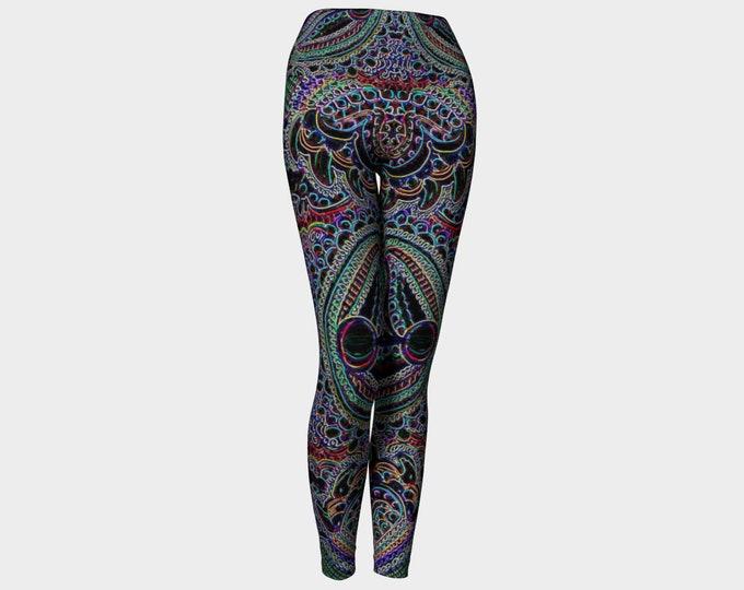 Featured listing image: Neon Mandala Yoga Leggings