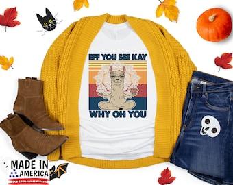 "Halloween T-Shirt, ""Eff You See Kay Why Oh You"" Shirt, Cute Fall Shirts, Women's Graphic Tee, Fall TShirt, Thanksgiving Shirt, Pumpkin Spice"