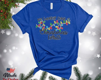 Christmas Lights TShirts, V-Necks, Gerber Onesies & more! Vintage Graphic Tee, Christmas Retro, Classic Christmas