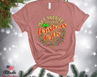 Christmas Lights Retro TShirts, V-Necks, Gerber Onesies & more! Vintage Graphic Tee, Christmas Retro, Classic Christmas