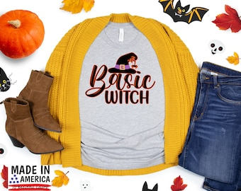 Halloween Basic Witch T-Shirt, Halloween Shirt, Cute Fall TShirts, Fall Shirt, Thanksgiving Shirt, Women's Graphic Tee