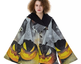 Pair O' Pumpkins Women's Hooded Flared Coat