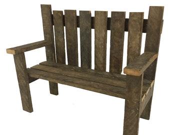 Attractive Small Garden Bench, Potting Benches, Wooden Bench, Rustic Bench, Garden  Decoration, Farmhouse Decor, Garden Display, Tobacco Lath Wood Craft