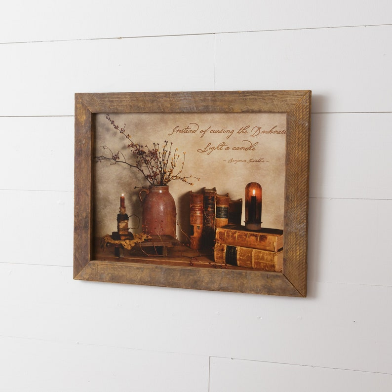 Vintage framed print Light a Candle by Billy Jacobs image 0