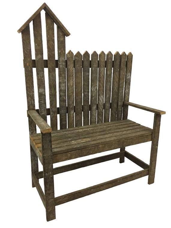 Groovy Birdhouse Bench Tobacco Lath Wood Crafts Bird Garden Bench Reclaimed Wood Rustic Bench Wooden Bench Garden Furniture Country Decor Short Links Chair Design For Home Short Linksinfo