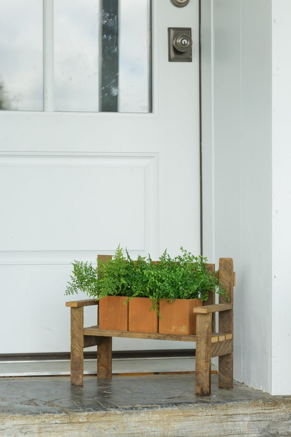 Magnificent Small Garden Bench Potting Benches Wooden Bench Rustic Bench Garden Decoration Farmhouse Decor Garden Display Tobacco Lath Wood Craft Caraccident5 Cool Chair Designs And Ideas Caraccident5Info
