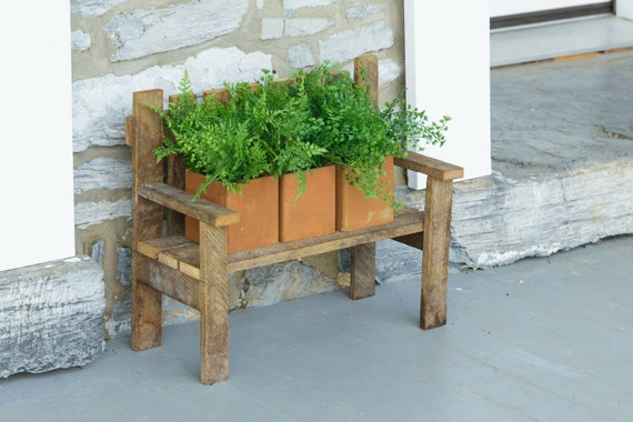Prime Small Garden Bench Potting Benches Wooden Bench Rustic Bench Garden Decoration Farmhouse Decor Garden Display Tobacco Lath Wood Craft Gamerscity Chair Design For Home Gamerscityorg