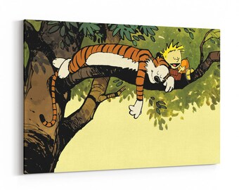 Calvin And Hobbes Canvas Print Wall Art Poster Art Painting Nursery Wall Decor Artwork Wall Decal  sc 1 st  Etsy & Calvin and hobbes wall decal | Etsy