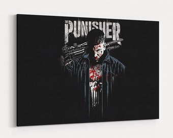 d8d5fb685 The Punisher Canvas Wall Art Canvas Prints Punisher Poster Canvas Art  Painting Superhero Wall Decor Artwork Decal