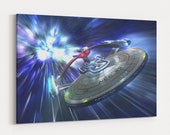 Starship Enterprise Star Trek Canvas Wall Art Canvas Prints Poster Canvas Art Painting Wall Decor Artwork Decal