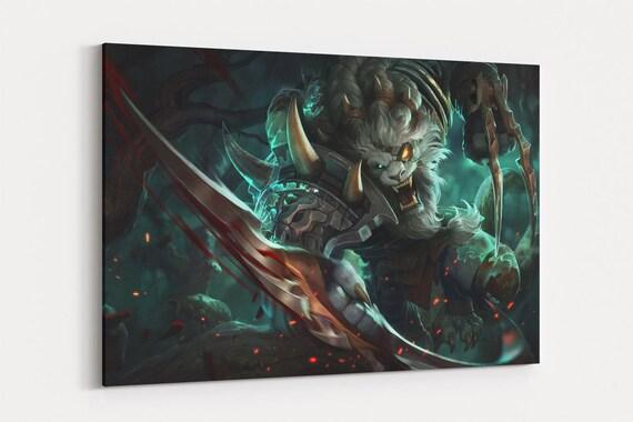 Rengar Poster League of Legends Canvas Wall Art LoL Canvas