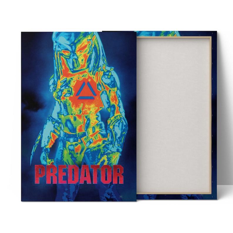 Predator Wall Art Predator Wall Decor Predator Movie Poster On Canvas Predator Painting Predator Artwork Print Predator Gift