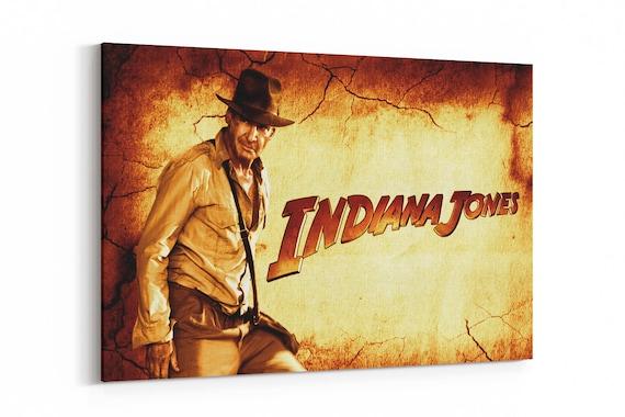 Indiana Jones Movie Poster Canvas Art Print