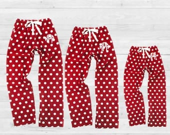 35126d96d1 Family Pajamas, Holiday Pajamas, Valentine Pajama Set, Personalized Family  Pajamas, Monogram Pajamas, valentine PJs,