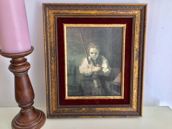 Rembrandt Girl With Broom Antique Canvas Print Framed Etsy