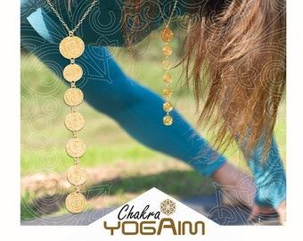 7 Chakra pendant. yoga gift ideas.Meditation Gift, Mindfulness Tool.