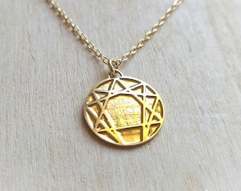 Gurdjieff's Enneagram necklace , The work gift. Ancient symbol gift.
