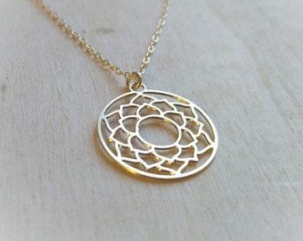 Lotus Necklace: Lotus Flower Necklace, Lotus Jewelry, Yoga Necklace, Yoga Jewelry, Yoga Quotes, Lotus Quote, Buddhist Necklace, Lotus