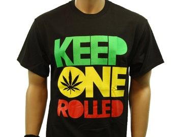 0ab1e1f69838d Weed Marijuana Pot Keep One Rolled Printed Graphic T-Shirt Funny Casual  Fashion Humor Hip Hop Urban Tee