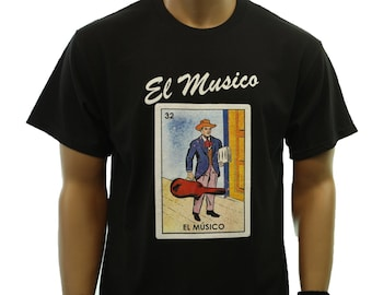 bde1e884c Funny Graphic T-Shirts El Musico Loteria Borracho Mexico Fashion Casual  Mexican Card Printed Humor Hip Hop Urban Tee