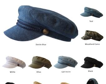 214fc31fd6dee Sailor Caps Captain Fisherman Cap Yacht Boat Costume Fiddler Hat Unisex  Fashion Casual Plain Hats