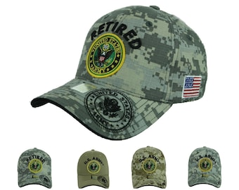 b4681e2da51fe8 USA Army Baseball Cap US Flag Army Veteran Retired U.S. Army Caps Tactical  Operator Hats Fashion Casual Official Licensed Hat