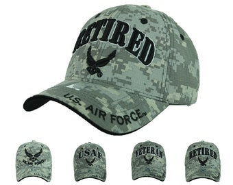 f84d7348ef7 USA Air Force Baseball Cap US Air Force USAF Veteran Retired Hats U.S. Air  Force Camo Hat Fashion Casual Official Licensed Caps
