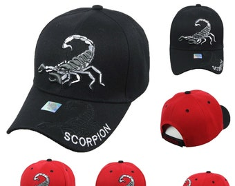 best authentic d29a3 26ed8 Scorpion Baseball Cap Adjustable Hat Fashion Casual Curved Bill Hats Hip  Hop Hipster Caps