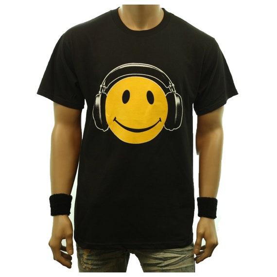 NEW MEN/'S PRINTED SMILE HEADPHONE FUNNY HIPSTER HIP HOP PULLOVER HOODIE JACKET