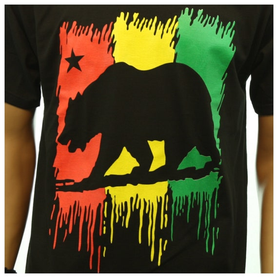 Graphic T-Shirt CALIFORNIA KNOWS HOW TO PARTY Bear Printed Hip Hop Humor Tee