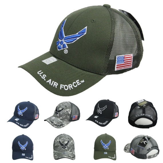 **AIR FORCE WING**  VINTAGE BUCKET COTTON MILITARY CAP HAT FREE SHIPPING USA