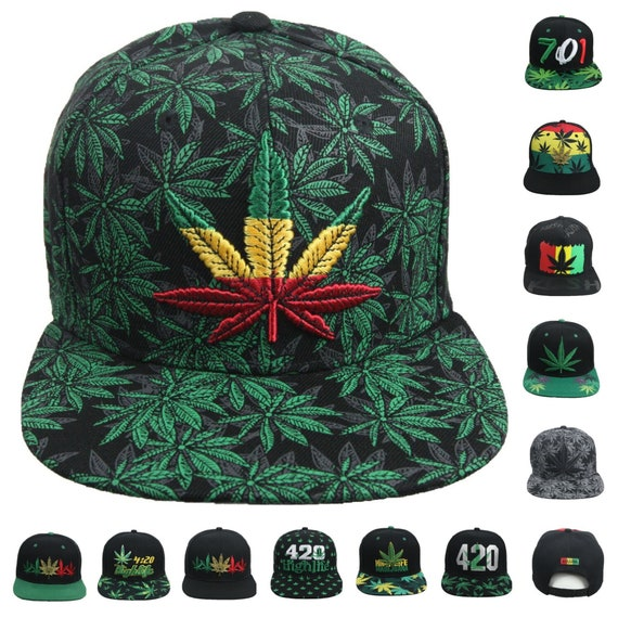 Baseball Cap Marijuana Leaf Pot Snapbacks Truker Hats Unisex Adjustable Fashion Cap