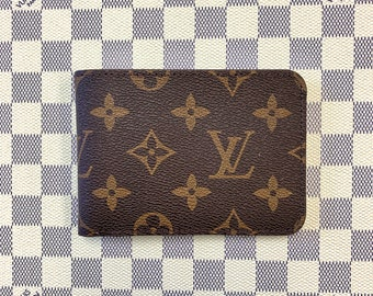 dd35ba5e3058 Personalized Louis Vuitton Leather Wallet