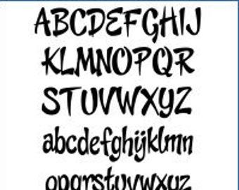 Alphabet Pattern - Cheeky Monkey, 6 inch - Printable PDF File, Digital Download