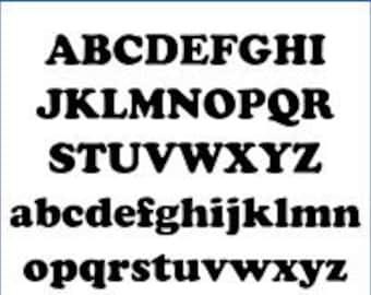 Alphabet Pattern - Cupid, 5 inch - Printable PDF File, Digital Download