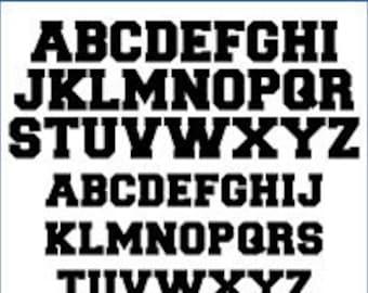 Alphabet Patterns - Collegiate, Value Pak - Printable PDF File, Digital Download