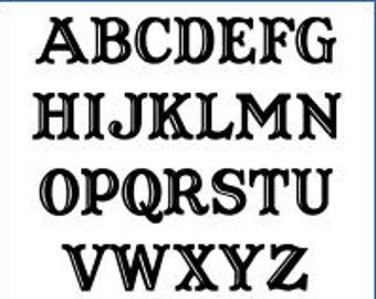 Alphabet Pattern - Captain Howdy, 3 inch - Printable PDF File, Digital Download