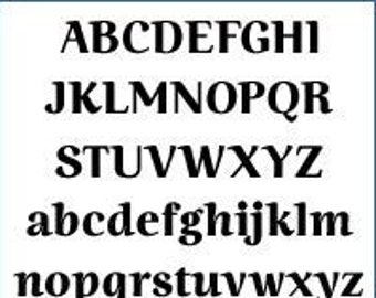 Alphabet Pattern - Ninfa, 6 inch - Printable PDF File, Digital Download