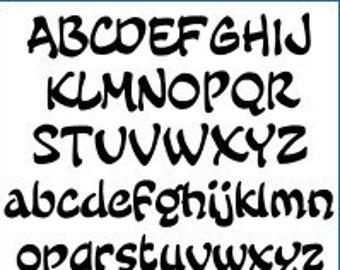 Alphabet Pattern - Fairy Tale, 6 inch - Printable PDF File, Digital Download
