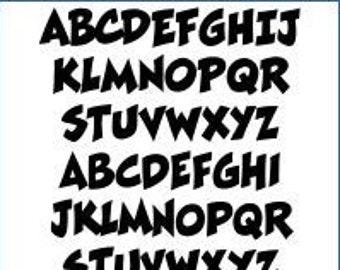 Alphabet Pattern - Ratatat, 6 inch - Printable PDF File, Digital Download
