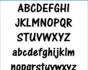 Alphabet Pattern - One Stroke, 5 inch - Printable PDF File, Digital Download