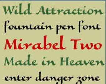 Printable Alphabet Patterns - Mirabel Two, Value Pak - PDF File, Digital Download