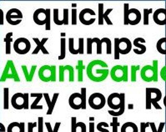 Alphabet Pattern - Avant Garde, 6 inch - Printable PDF File, Digital Download