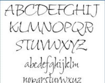 Alphabet Pattern - Shalimar, 2 inch - Printable PDF File, Digital Download